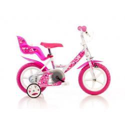 """""""Detský bicykel Dino 124GLN biela + ružová potlač 12 """"""""2015"""""""
