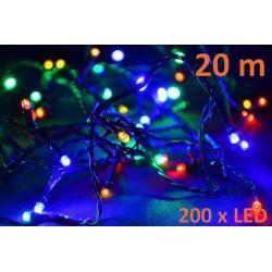 Vianočné LED osvetlenie 20 m - farebné, 200 diód