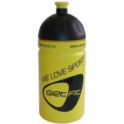 Fľaša na bicykel 0,5 l žltá