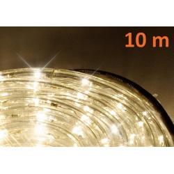 LED svetelný kábel 10 m - teplá biela, 240 diód