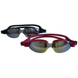 Závodné plavecké okuliare FLAME - silikón, zrkadlovka