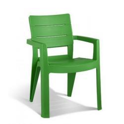 Záhradné plastové kreslo IBIZA zelené