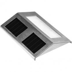 Solárne LED záhradné svietidlo Garth z nerezovej ocele