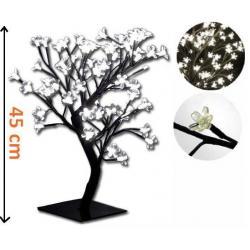 Dekoratívne LED osvetlenie - strom s kvetmi, studená biela