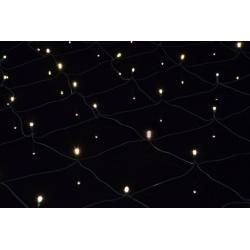 Vianočné osvetlenie - LED svetelná sieť 1,5 x 1,5 m - teplá biela 100 LED