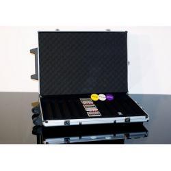 Hliníkový kufor na 1 000 ks žetónov s príslušenstvom Trolley