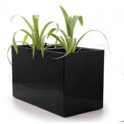 Samozavlažovací kvetináč G21 Combi čierny 56x28cm
