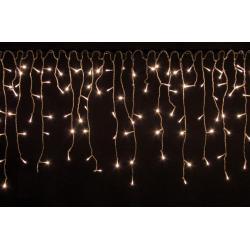 Vianočný svetelný dážď 600 LED teplá biela - 15 m