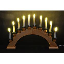 Vianočné dekorácie - svetelný oblúk s 10ti žiarovkami