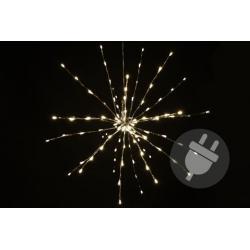 Vianočné osvetlenie - meteorický dážď - teplá biela, 64 LED