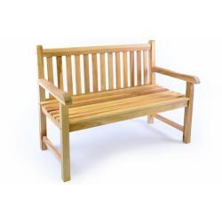 Záhradná lavica DIVERO 2-miestna robustná 120 cm