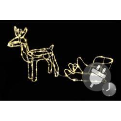 Svietiaci vianočný sob – svetelná dekorácia 85 cm