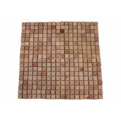 Mramorová mozaika Garth- červená - obklady 1 ks