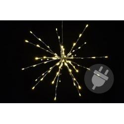 Vánoční osvětlení - meteorický déšť - teplá bílá, 40 cm 80 LED
