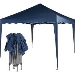 Záhradný párty stan nožnicový 3x3 m - modrý