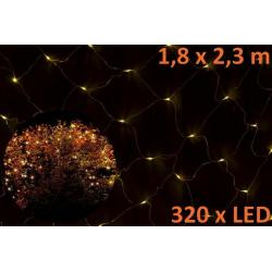 Vianočná LED svetelná sieť 1,8 x 2,3 m - teplá biela, 320 diód