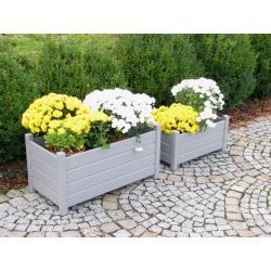 Set obdĺžnikových kvetináčov – 2 ks