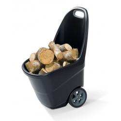 Záhradný plastový vozík XL - EASY GO 62 L čierny