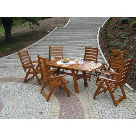 Záhradný drevený stôl RUSTIKA