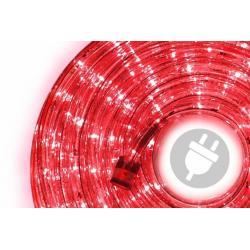 LED svetelný kábel 20 m - červená, 480 diód