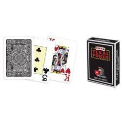 Modiano 2 rohy 100 % plastové karty - čierne