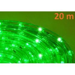 LED svetelný kábel 20 m - zelená, 480 diód