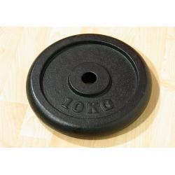 Závažie na činky 10 kg čierne, liatina