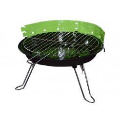 Mini párty BBQ stolný guľatý gril - zelený