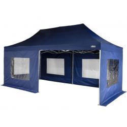 Záhradný párty stan - modrý 3 x 6 m + bočné diely