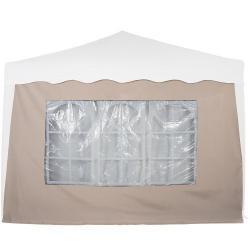 Bočná stena s trojdielnym oknom - 3 x 3 m - champagne