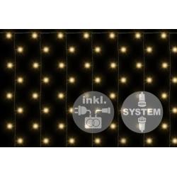 diLED svetelný záves - 200 LED teplá biela + napájanie