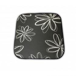 Sedák na křeslo SABA - šedý s květy 30200-700