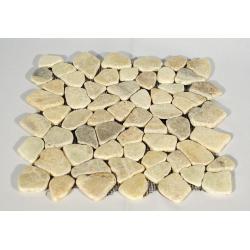 Mozaika riečny kameň - krémová obklady 1ks Garth