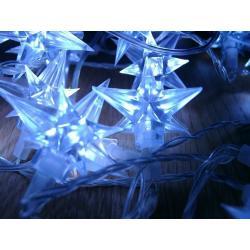 Vianočné LED osvetlenie - hviezdy modré 4 m