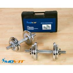 Činkový set MOVIT 20 kg - 2 činky