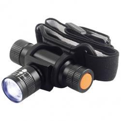 Svietidlo čelové TESLA Zoom 140L,celokovové, LED 3W Cree