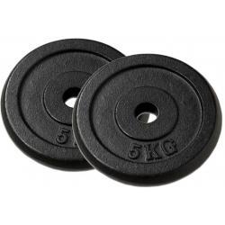 Sada 2 závaží na činky 5 kg, čierne