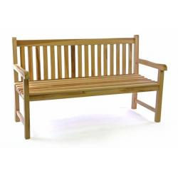 Záhradná lavica masív DIVERO 3-miestna 150 cm
