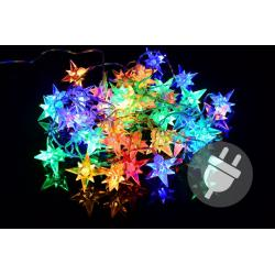 Vianočné LED osvetlenie - farebné hviezdy - 40 LED
