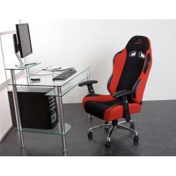 Kancelárska stolička RS Series športový design červená / čierna