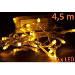 Vianočné LED osvetlenie 4,5 m - teplá biela, 30 diód