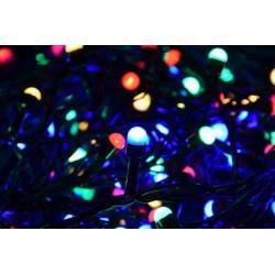 Vianočné LED osvetlenie 10 m - farebné, 100 MAXI LED diód