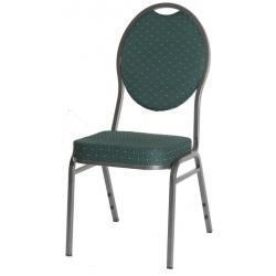 Kvalitná kovová stolička Monza - zelená
