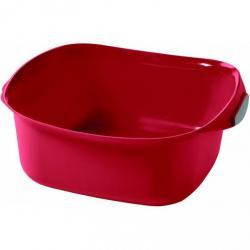 Umyvadlo SQUARE 10l - červená CURVER